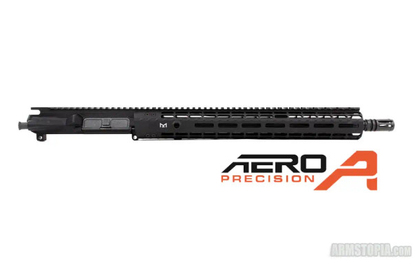 M4E1 ENHANCED 16in .300 Blackout Complete Upper Receiver w/ 15in M-LOK ENHANCED Handguard – BLACK