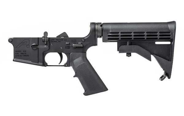 Aero Precision AR15 Complete Lower Receiver, Standard - Anodized Black