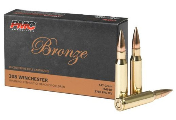PMC AMMO .308 WINCHESTER 147GR. FMJ-BT 500-rd Case (RANGE MEMBERS ONLY)