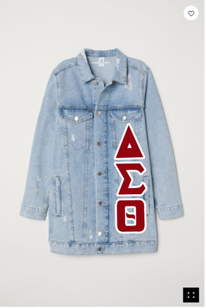 Deference Clothing® compatible with Delta Sigma Theta Clothing® Chapter 12-Long Jean Jacket