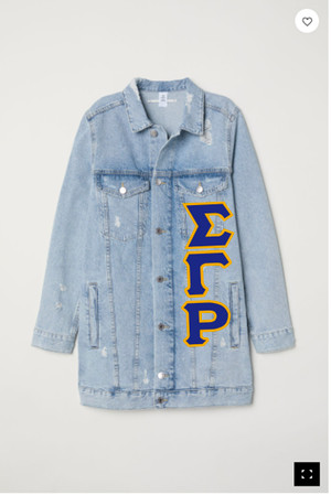 Deference Clothing® compatible with Sigma Gamma Rho Clothing® Chapter 12-Long Jean Jacket