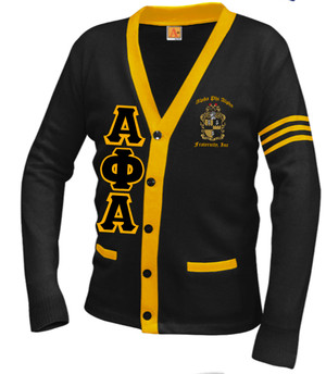 Deference Clothing® compatible with Alpha Phi Alpha Clothing® Chapter 38  Varsity Cardigan