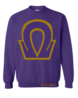 Deference Clothing® compatible with Omega Psi Phi Clothing® Chapter 37  Chipmunk Sweatshirt