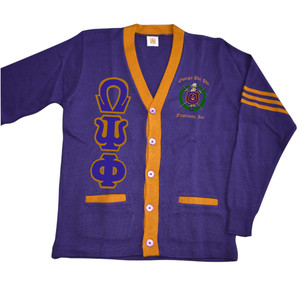Deference Clothing® compatible with Omega Psi Phi Clothing® Chapter 38 Varsity Cardigan