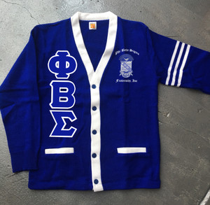 Deference Clothing® compatible with Phi Beta Sigma Clothing® Chapter 38 Varsity Cardigan