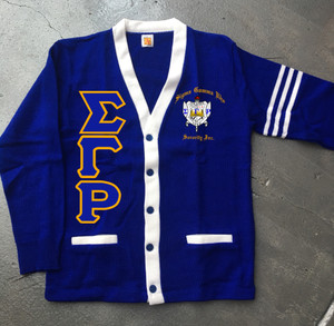 Deference Clothing® compatible with Sigma Gamma Rho Clothing® Chapter 38 Varsity Cardigan