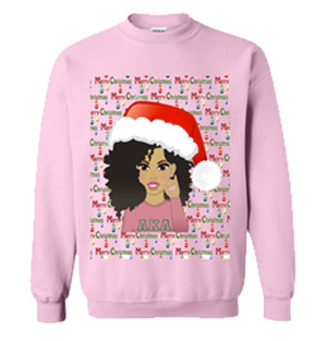 Deference Clothing® compatible with Alpha Kappa Alpha Clothing® Chapter 40 Ugly X-Mas Sweatshirt