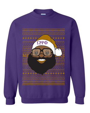 Deference Clothing® compatible with Omega Psi Phi Clothing® Chapter 40 Ugly X-Mas Sweatshirt
