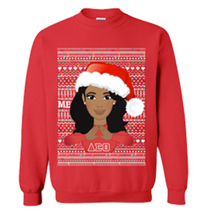 Deference Clothing® compatible with Delta Sigma Theta Clothing® Chapter 40 Ugly X-mas Sweatshirt