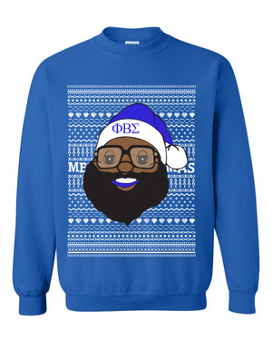Deference Clothing® compatible with Phi Beta Sigma Clothing® Chapter 40 Ugly X-Mas Sweatshirt