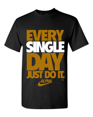 Deference Clothing® compatible with Alpha Phi Alpha Clothing® Chapter 41 Just Do It T-shirt
