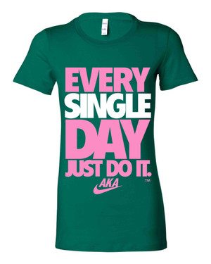 Deference Clothing® compatible with Alpha Kappa Alpha Clothing® Chapter 41 Just Do It T-Shirt