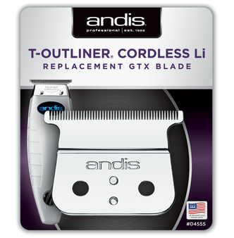 Andis Cordless T-Outliner® Li Replacement Deep Tooth GTX Blade - Carbon Steel