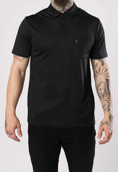 Barber Strong - The Barber Polo - Black