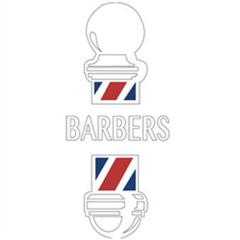BarberMate Barber Pole Vinyl Cling  Decal