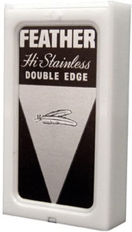 Feather Hi Stainless Double Edge Razor Blades (5 pk)
