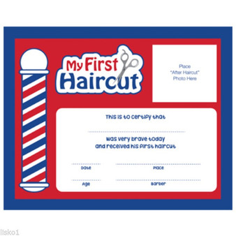 """Scalpmaster """"My First Haircut"""" Certificate - 12pk"""