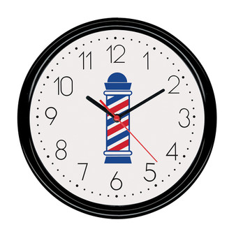 Scalpmaster Barber Pole Clock