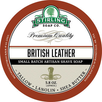 Stirling Shave Soap - British Leather