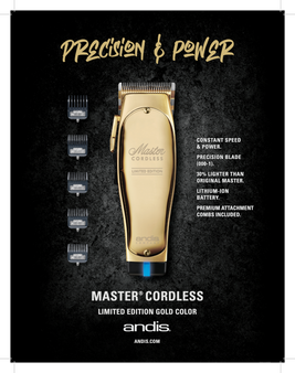 Andis Master Cordless Limited Edition Gold