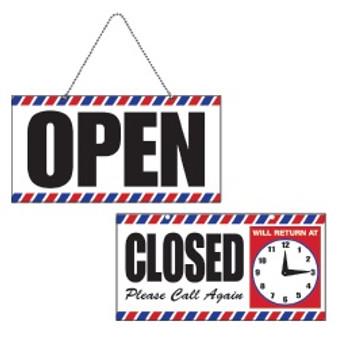 Scalpmaster Open/Close Sign w/ Clock