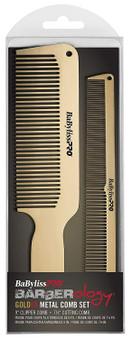 BabylissPRO® GOLDFX Metal Comb 2-Pack