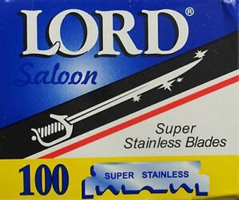 Lord Saloon Pre-Split Razor Blades 100ct