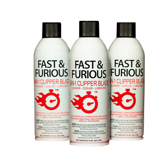 Fast & Furious 3-in-1 Clipper Blade Lubricant Spray