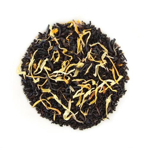ORGANIC SUMMER PEACH TEA | Black Tea with Natural Peach Flavor | Dessert Tea Collection | 2 oz. Jar