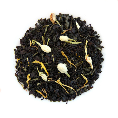 ORGANIC JASMINE PASSION TEA | Black & Green Tea with Jasmine Buds | Dessert Tea Collection | 2 oz. Jar