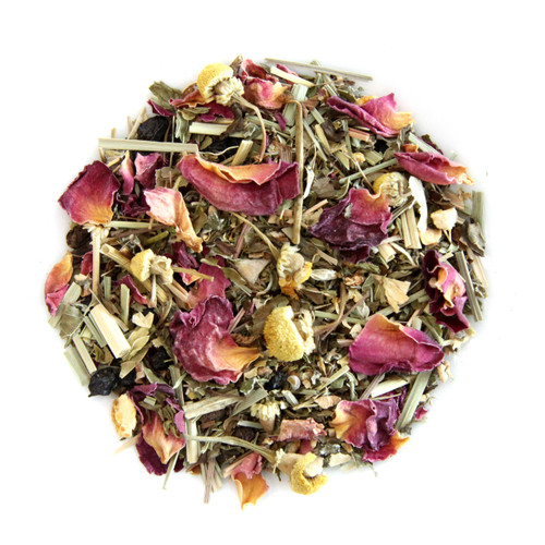 ORGANIC STRESS RELIEF TEA | Caffeine Free Herbal Infusion | Wellness Tea Collection | 1.5 oz. Jar