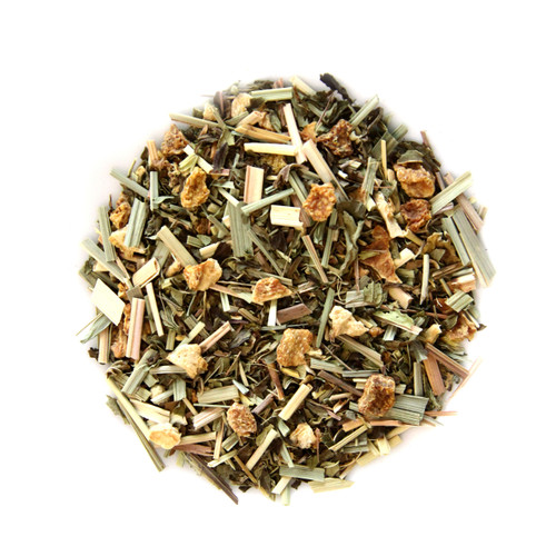 ORGANIC GINGER LEMONGRASS  TEA | Caffeine Free Herbal Tea Infusion | Wellness Tea Collection| 1.5 oz. Jar
