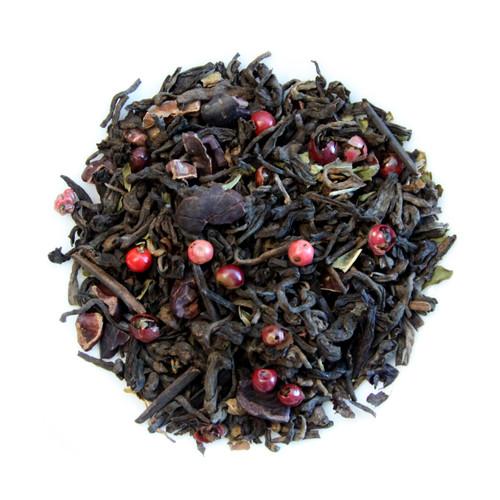 ORGANIC MINT DARK CHOCOLATE | Loose Leaf  Pu-erh Tea & Mint Chocolate | Dessert Tea Collection | 2 oz. Jar