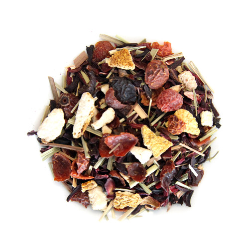 ORGANIC HIBISCUS HEAVEN TEA | Caffeine Free Herbal Infusion | Wellness Tea Collection | 1.5 oz. Jar