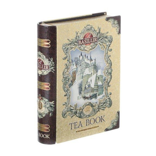 Basilur, Tea Book Gold Tin Caddy Vol II, Loose Leaf, 3.5 oz.