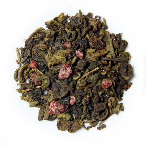 BERRY SENSATION TEA | Ceylon Green Tea With Real Fruit Pieces | Dessert Tea Collection | 2 oz. Jar