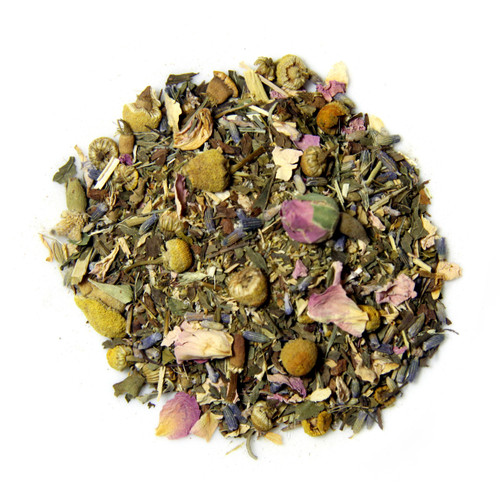 ORGANIC PEACE BLEND TEA  | Caffeine Free Herbal Infusion | Wellness tea collection | 1 oz. Jar