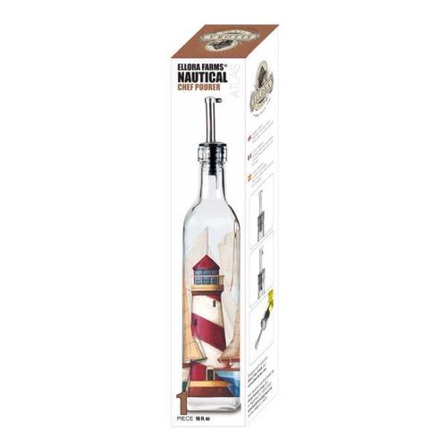 Ellora, Cruet Bottle, Atlas Nautical Chef Pourer, 16 oz.