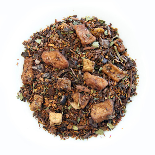ChocolaTea, Rooibos Red Tea with Chocolate Nibs, Dessert Tea Collection, 2 oz. Jar
