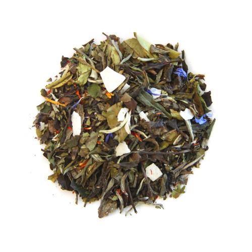 ORGANIC WHITE COCONUT CABANA TEA | White Peony Tea | Dessert Tea Collection | 1 oz Jar
