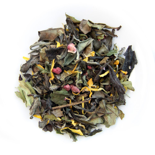 ORGANIC WHITE GUAVA MEDLEY   | White Peony Tea | Dessert Tea Collection | 0.9 oz Jar