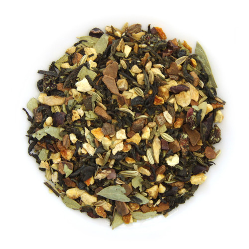 ORGANIC DETOX TEA | Green Tea Blended with Natural Fruits and Spices | Wellness Tea Collection | 1.8 Oz Jar