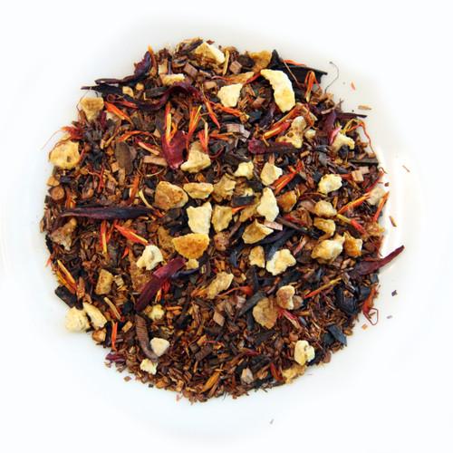 Sicilian Blood Orange, Organic Tea Blend, Caffeine Free, 1.8 Oz Jar