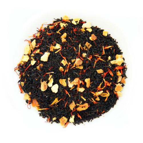 London Royale Tea   Loose Leaf Ceylon Black Tea with Bergamot Flavor Orange Peel & Safflower Petals   Reusable Airtight Container   2.5 oz.