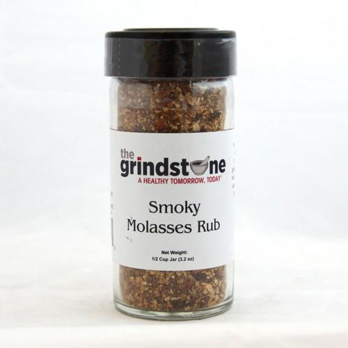 Smoky Molasses Rub, 3.2 oz, Glass Bottle, Non GMO