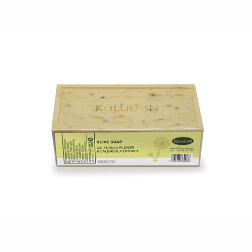 Kalliston Olive Oil Soap Bar, Calendula Extract & Calendula Flower