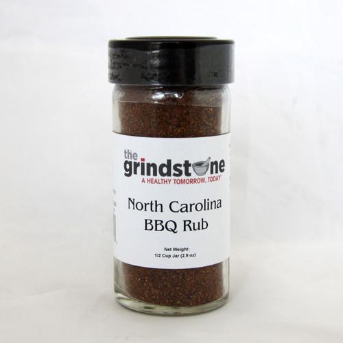 North Carolina BBQ Rub, 2.9 oz. In Glass Bottle, Non GMO