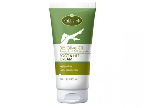 Organic Olive Oil, Avocado Oil, & Ruscus Extract, Foot & Heel Cream, 5.07 fl. oz. in Tube