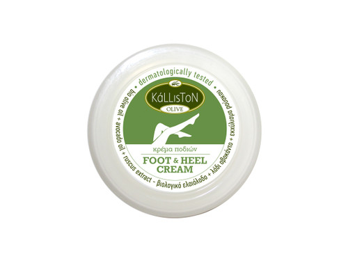 Organic Olive Oil, Avocado Oil, & Ruscus Extract, Foot & Heel Cream, 2.54 fl. oz. in Cosmetic Jar