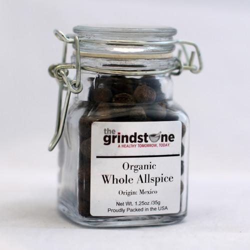 Organic Whole Allspice, 1.25 oz. Glass Jar
